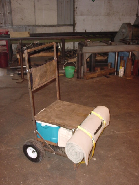 Gear Buggy, w/Seat and Scorebook Shelf in the Down Position
