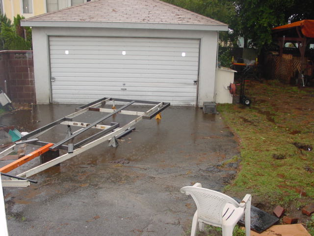 It rained, A LOT while we did this trailer